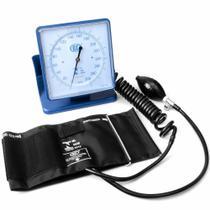 Aparelho de Pressão Arterial Adulto Hospitalar De Mesa ou Parede Nylon Azul Bic -