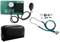 Aparelho de Pressão Arterial + Estetoscópio Rappaport Verde - Gtech - Premium