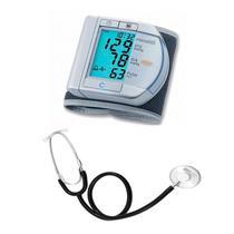 Aparelho De Pressão Digital Microlife E Estetoscópio Simples -
