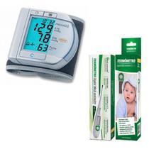 Aparelho De Pressão Digital Microlife E Termometro Medlevensohn -