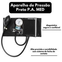 Aparelho de Pressão Esfigmomanômetro Nylon Fecho de Contato Preto P.A MED - P.A. MED