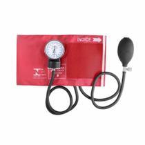 Aparelho de Pressão Esfigmomanômetro Premium Nylon e Fecho de Contato - Vermelho -