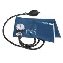 Aparelho de Pressão (Esfigmomanômetro / Tensiômetro) Analógico Azul - Premium -