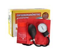 Aparelho de Pressão (Esfigmomanômetro / Tensiômetro) Analógico Vermelho - Premium -