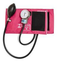 Aparelho de Pressão P.A.Med Adulto Nylon Rosa -
