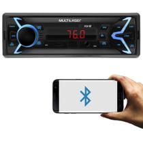 Aparelho de Som Automotivo Com entrada USB SD Radio Relogio - Multilaser