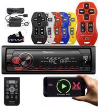 Aparelho de Som Automotivo Pioneer Usb MP3 Player Rádio AM/FM + Controle Longa Distância -