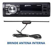 Aparelho De Som Carro Com Usb Bluetooth E Sd + Brinde Antena interna - Tiger