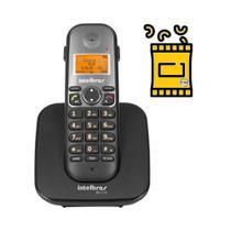 Aparelho de Telefone Fixo Sem Fio de mesa com bina viva voz - Intelbras