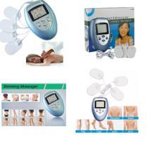 Aparelho fisioterapia acupuntura tens fes portátil digital eletrochoque massagem relaxamento tonificador - MAKEDA