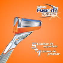 Aparelho Gillette Fusion Power C/5 Lâminas -
