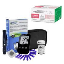 Aparelho Glicemia G-tech Lite E Agulha Caneta Insulina 4mm -