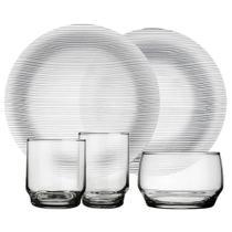 Aparelho Jantar 20 Peças em Vidro Diamante - Duralex -