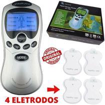 Aparelho Massageador Portátil Tens Fes Bivolt Fisioterapia 4 Eletrodos Alivio Dor - CJR