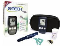 Aparelho Medição Diabetes Completo+10 Tiras - G Tech