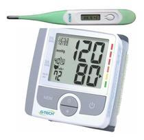 Aparelho Medidor De Pressão Arterial Digital + Termômetro - G-Tech