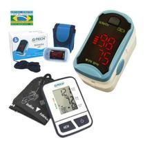 Aparelho Medidor De Pressão De Braço + Oximetro De Led GTECH -