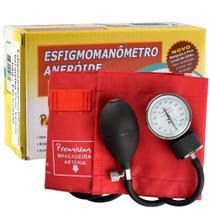 Aparelho Medidor de PressãoEsfignomanômetro em Nylon Premium Vermelho - Accumed
