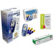 Aparelho Medir Glicose 50 Tiras Glicemia Diabetes 50 Lanceta - Descarpack