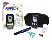 Aparelho Monitor Medidor De Glicose Glicemia G-tech Completo -