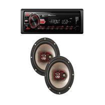 Aparelho Mp3 Radio Automotivo Pioneer Fm Usb + Falante 06 - Pioneer/Bravox