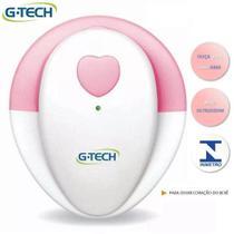 Aparelho Para Escutar Coração Do Bebê G-tech Branco E Rosa - Gtech