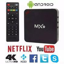 aparelho para transformar tv smart mx9 4k android 7.1 netflix youtube -