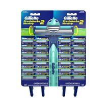 Aparelho Prestobarba Ultragrip Cabeca Movel Cartela - 12 pacotes c/ 2 unidades - Prestobarba 2