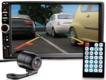 Aparelho Rádio Automotivo Dvd 2 Din Universal Bluetooth Som Câmera de Ré - First Option
