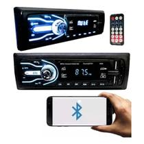 Aparelho Som Automotivo Mp3 7cores Bluetooth 2x Usb First Option Rádio 5566SE -