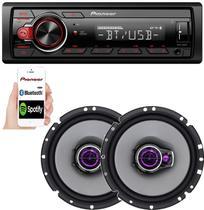 Aparelho Som Pioneer Bluetooth + 2 Falante 6 Fiat Mobi Stilo -