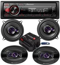Aparelho Som Pioneer Bluetooth Mp3+ Falante 5 + 6x9 + Módulo -