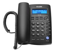 Aparelho Telefone c/ Fio c/ Identificador de Chamadas, Viva-Voz e Bloqueador  TCF 3000 Preto - Elgin -