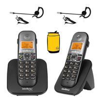Aparelho Telefone Fixo sem fio + Ramal Bina e Fone Intelbras -