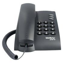 Aparelho Telefonico Fixo Com Fio Intelbras Pleno Preto -