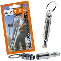 Apito Survivor Azteq Alumínio Emergência Sobrevivência -