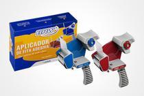 Aplicador de fitas c/16 rolos de fitas 48x40 azul brw -