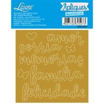 Aplique Acrílico - Palavras: Amor, Sorria, Memórias, Família - Litoarte