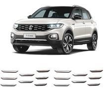 Aplique Adesivo Cromado Grade Dianteira Frontal Volkswagen Tcross T-Cross PCD 2019 Em Diante Encaixe Perfeito - Dg Marel