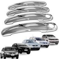 Aplique Capa Maçaneta Volkswagen Bora 2000 A 2009 Cromado -