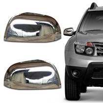 Aplique Capa Retrovisor Renault Oroch Duster 2015 a 2018 Cromado Encaixe Sob Medida - Shekparts