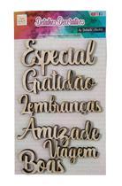 Aplique Conjunto 6 Palavras - Especial  By Gabriela Paoletti - Atelie Arte Coisas