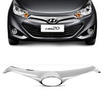 Aplique Cromado  da Grade Frontal Hyundai Hb20 2013 a 2015 - Shekparts