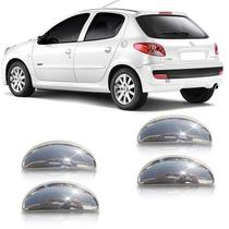 Aplique Cromado Da Maçaneta Peugeot 206 A 207 4 Portas - Shekparts