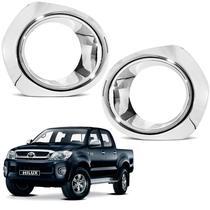 Aplique Cromado do Farol de Milha Toyota Hilux 2005 a 2012 - Shekparts