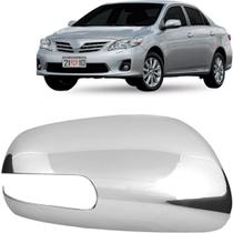 Aplique Cromado Do Retrovisor Corolla 08 A 14 Com Pisca Ld - Shekparts