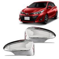 Aplique Cromado Encaixe Fixação Retrovisor Toyota Yaris 2018 - Prime