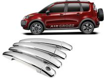 Aplique cromado macaneta c3/peugeot 208/aircross 12/19 - 4 portas - Shekparts