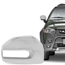 Aplique Cromado para Retrovisor Fiat Palio Weekend Strada Idea Adventure Locker 2008 em diante Lado Direito - Shekparts