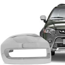 Aplique Cromado para Retrovisor Fiat Palio Weekend Strada Idea Adventure Locker 2008 em diante Lado Esquerdo - Shekparts